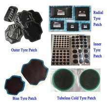 China wholesale vulcanizing Rubber Radial tire repair cold patch universal tire patch