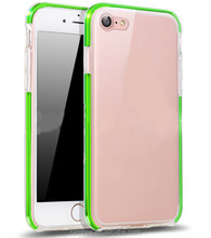 Slim LED Phone Soft TPU Crystal Clear Flashlight Frame Bumper Shell Case for iPhone 5 5S