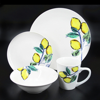 2018 Factory directly supply 20pcs new design Porcelain Dinnerware/ dinner set 4 people