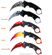 DHL Free Shipping CS GO Karambits Knife and Balisongs (Butterfly Knives)-Crimson Web