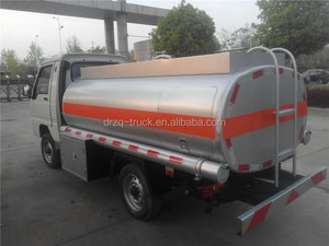 FOTON 4X2 8000L fuel tank truck with oil pump hot sale in China water tanker ship