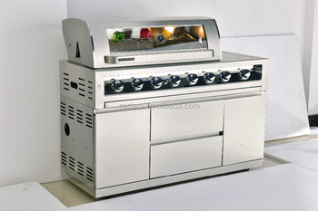 CBM 4/6-burners full stainless steel BBQ gas grill and Cabinet with special quality