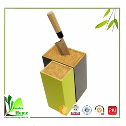 Customized high quality bamboo kitchen knife block