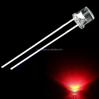 factory price flat top lens 5mm red LED diode 5MM Red Flat Top LED (water clear or diffused)