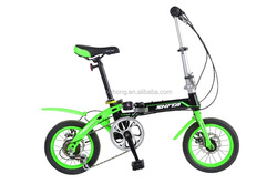 "Pu Hong 2016 newest wholesale bicycle all color 14"" 7 speed folding bmx bike"
