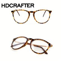 Black frame Resin lens Vintage Glasses Computer Glasses Optical Glasses Alloy Legs