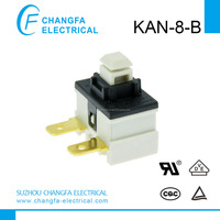 miniature switches - spst (single pole single throw) switch power push button switch KAN-8-B(UL/VDE/TUV /CQC) CHANGFA SWITCH
