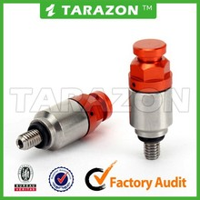 China made CNC Aluminum Fork Air Red Top Button Bleeder Pressure Relief Valve M5X0.8 For CR125R CRF250R