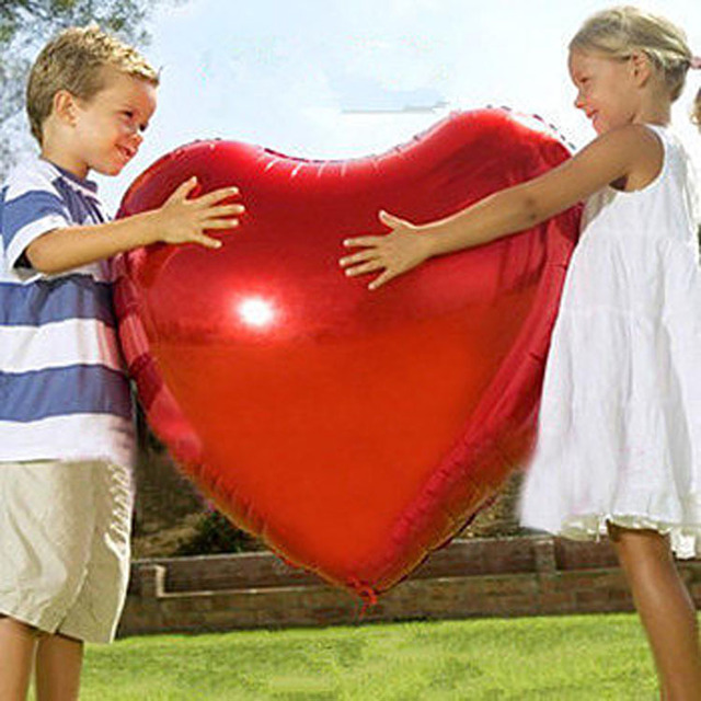 75cm Large Size Red Heart Inflatable Foil Balloons Lover Pink Heart Helium Balloon Globos Birthday Party Ball Wedding Decoration
