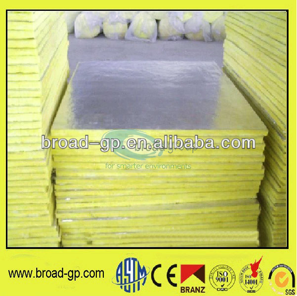 Aluminum foil faced roof insulation glass wool board