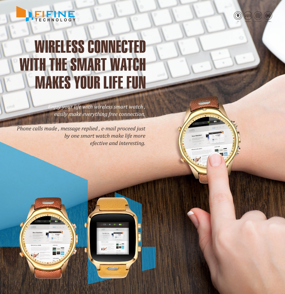 Android touch screen WIFI GPS 3G bluetooth cemara android smart watch