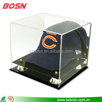manufactory customized clear acrylic baseball display case acrylic case display holder