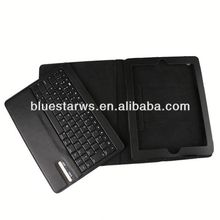 bluetooth keyboard leather cases for apple ipad 2