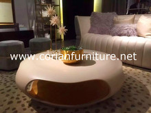 2016 factory price solid surface acrylic sofa center table