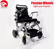 2018 new products Aluminum alloy electric wheelchair with power elevating seat