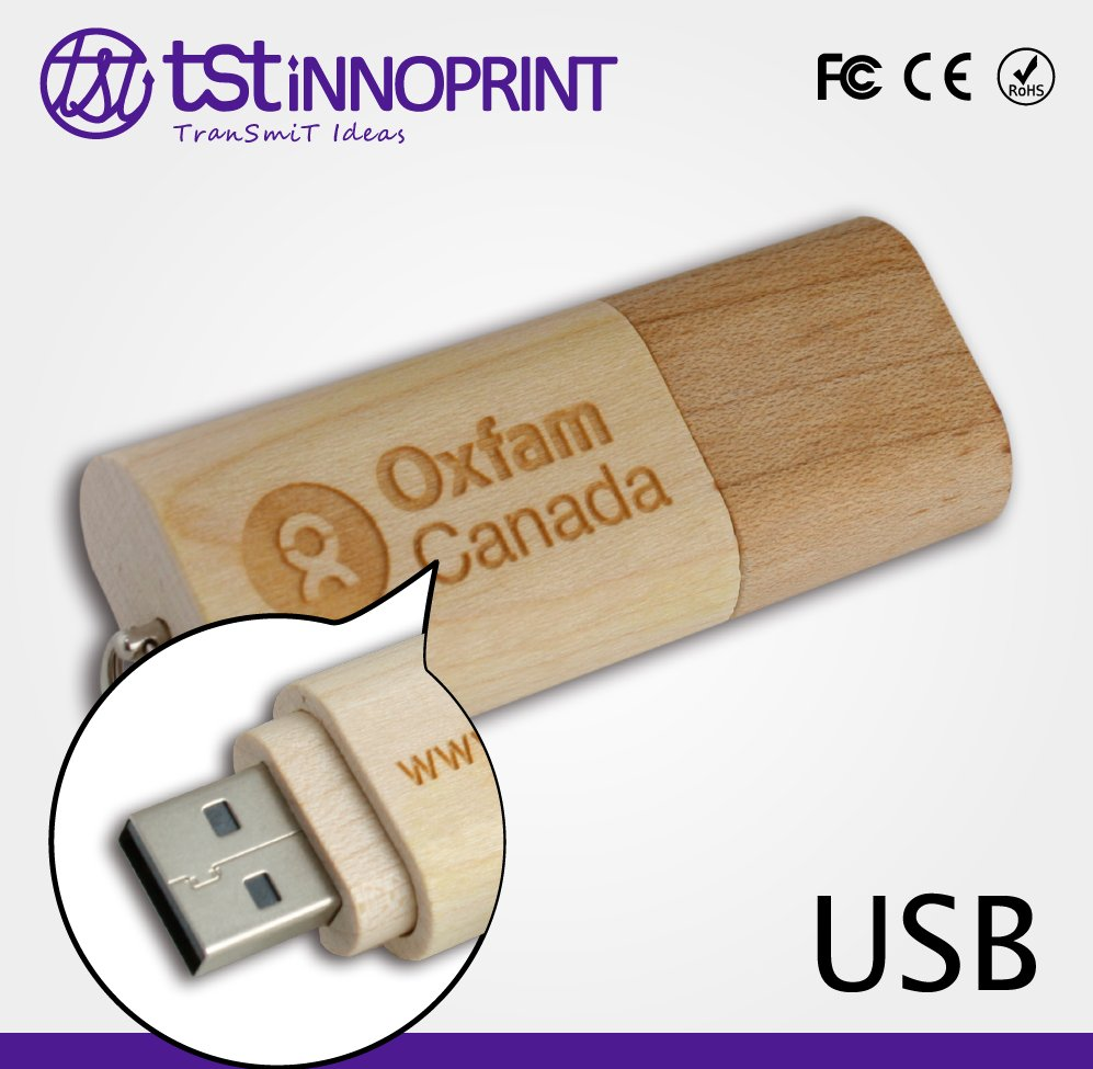 Custom High Performance Wooden USB Memory Stick