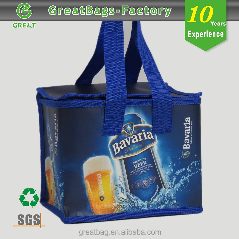 High-capacity portable customized bottle thermal picnic bag