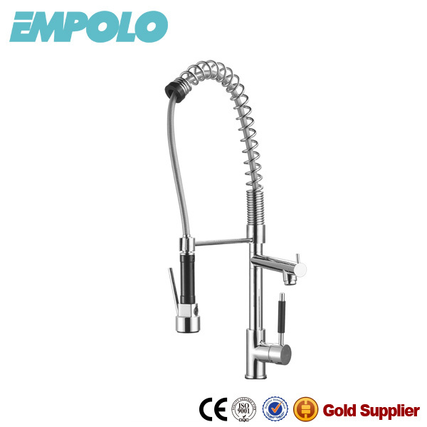 Good Quality Goose-Neck Spring Loaded Kitchen Sink Mixer Tap Faucets KM4030