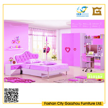 Hot-selling pink style child bedroom furniture bed sets