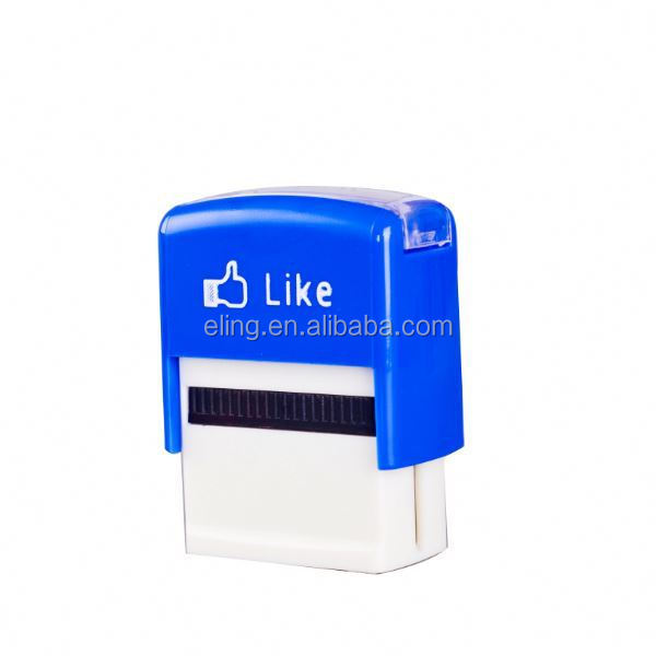 Plastic Self inking Stamp cute invisible inking rubber stamp machine