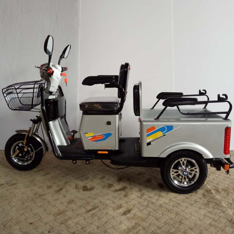 elderly use samll cargo electric tricycle with passenger seat for sale