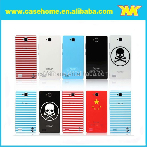 decorate back cover case for mobile phones for huawei ascend p7, A novel back case for huawei 3C