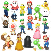 DIHAO hot sale super mario plastic figure cartoon figure
