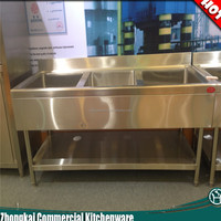 three bowls stainless steel sink/commercial used sink/european style sink