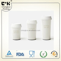 Classical design plastic coffee mug PP coffee cup reusable plastic coffee cups