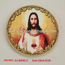 Wholesale Ceramic Jesus Design Coasters - WS1063-DJ-BD90-2