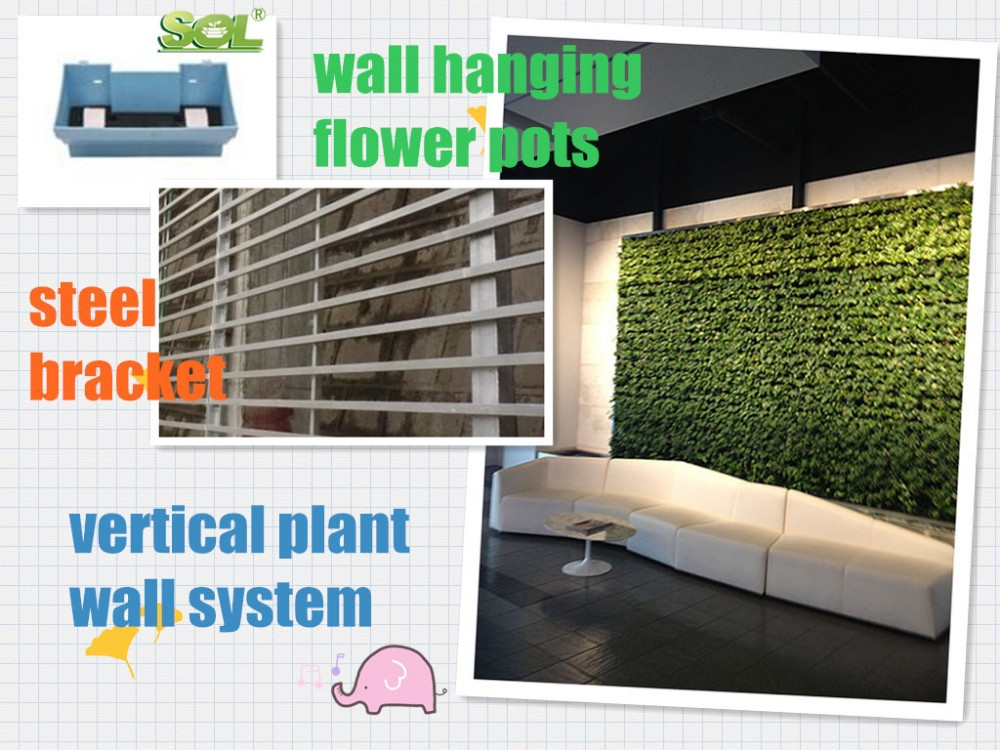 cheap plastic vertical garden planter indoor & outdoor plant wall living wall flower pots