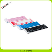 Fashion Style Flexible Wireless Bluetooth Rubber Keyboard for PC Computer Laptop Smartphone