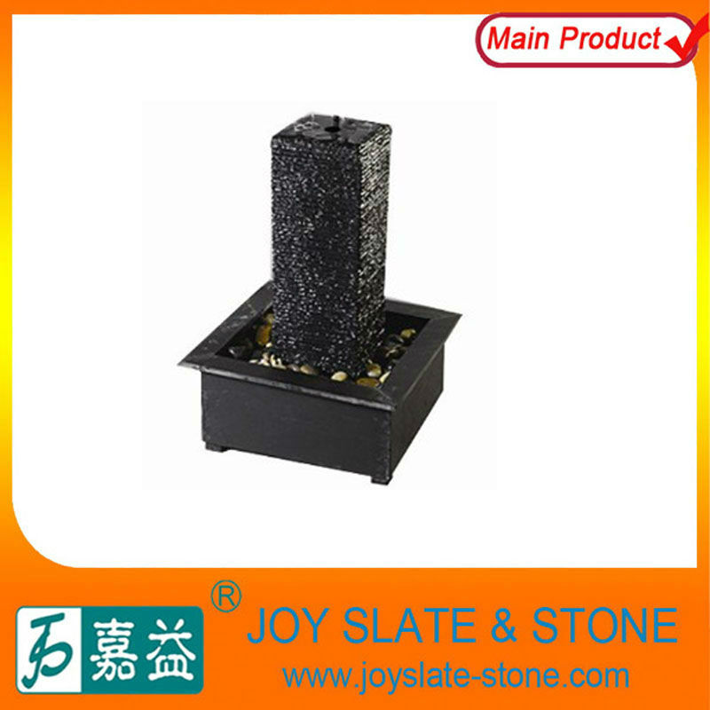 Black Natural Slate Indoor Fountain