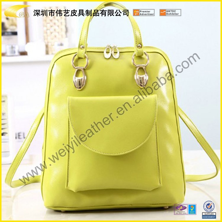 2016 Wholesale High Quality Custom Cheap PU Leather College Student Shoulder Bag For Girl Made In China