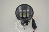 Round high power motorcycle led driving lights cover 9-12v for jeep Wrangler