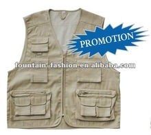 T/C or 100% cotton Fishing Vest