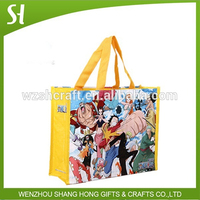 Hottest full color cartoon one piece promotion non woven bag with laminated wholesale
