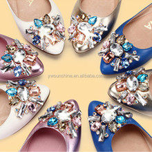 Starburst large colorful Rhinestone leather shoe accessories for women