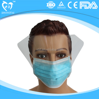 Ear Loop Mask with Eye Shield Non Woven Face Mask