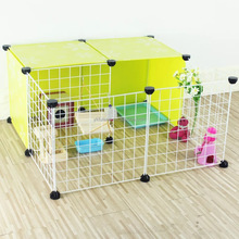 Dog Playpen Metal Pet Indoor Fence Yard Free Running Cage for Cats Small Dogs and Rabbits 12PCS