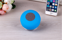 Waterproof Mini Bluetooth Speaker Shower Sucker Portable Round Wireless Speaker Perfect Sound Stereo Music Surround Player