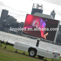 Mobile LED display screen billboard trailer for sale from Shanghai Linso Tech
