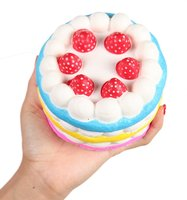 Squishies Jumbo Slow Rising Kawaii Colorful Cream Round Scented with Strawberry Squishy Cake