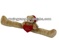 2014 new arrival christmas gifts cute and cheap stuffed plush teddy bear door draft stopper with red heart