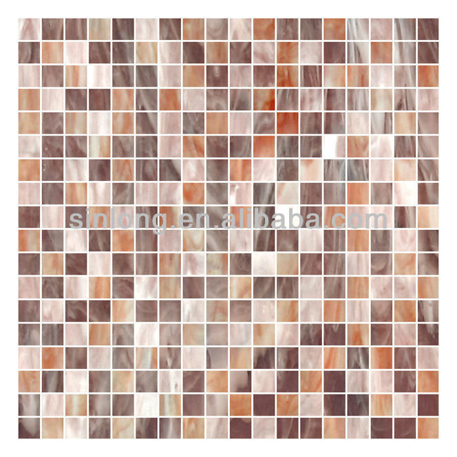 colored beveled glass mirror mosaic tile for bathroom