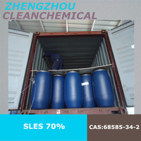 2015 factory manufacturing sodium lauryl ether sulphate SLES 70% with best price,Russia market Supplier,Cosmetic Raw