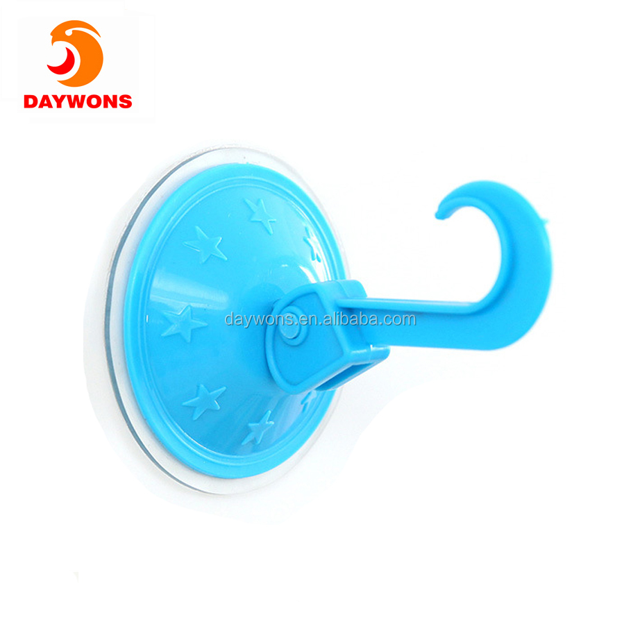 Daywons New Design Plastic Reusable Vacuum Hooks Mob Suck Wall-mounted Single Suction Cup Hook