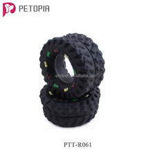 Small Lovely Black Tyre Tire Shape Squeaky Vinyl Dog Chew Toys