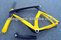 2013 FM018 new model full carbon yellow tt bike frame, carbon TT handlebar oem design
