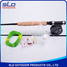 CARBON FLY FISHING ROD AND FLY FISHING REEL COMBO WITH KITS IN CARRYING BAG